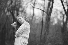 Alyse (mariosworld343) Tags: light portrait blackandwhite love nature beauty forest outdoors prime nikon natural bokeh 14 85mm sigma sharp fx alyse wideopen d700