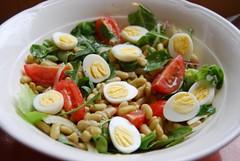 salade met boontjes en kwarteleitjes (ellenbouckaert) Tags: flageolet frijol bonensalade flageoletbohne