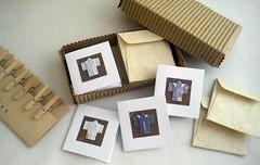 Mini origami kimono stationery set (mohu mohu) Tags: blue brown white cute set japanese miniature origami little handmade tag small mini card gift blank tiny kawaii kimono stationery greeting papercraft kimonos