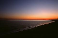 sunset from Hengistbury Head (meyrickpark) Tags: sunset sea sun sand head hill dorset warren isle bournemouth wight hengistbury rnli