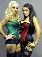 Girls at show (Harleycy3) Tags: girls sexy blondes models basques richcolours essextattooexpo2012
