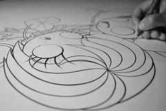 WIP The kingdom of the red crystal heart (Anita Mejia) Tags: red black laura art girl illustration paper drawing traditionalart adventure julio pluma cardenas indianajones ilustracion penink crystalheart mendivil chocolatita anitamejia