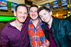 Keith Finn, Emmett Donnelly and Collie Hurlen pictured enjoying the Coors Light Live in the Latin Quarter Weekendin Busker Browns on Friday night. Photo: Reg Gordon