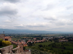 Anghiari View (SanguineSeas) Tags: old italy cloud green castle bar town view overcast fields walls anghiari