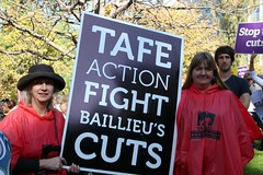 TAFE Action - TAFE teachers and students rally...