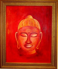 Buddha Doris Pohl (Acrylbilder) Tags: rot art modern buddha kunst moderne bild doris bilder acryl abstrakt pohl acrylfarben leinwand schön kunstmaler acrylgemälde kunstmalerin acrylgemaelde