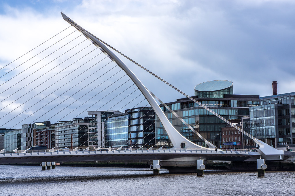 Samuel Beckett Bridge: First Day Using The New Sony SEL50F18 Lens With A NEX-7 Body