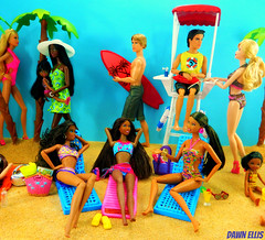 Tis' the Season for Summer Scheming: Part 1 (Dawn Ellis) Tags: fashionista diorama blackdoll barbieandken blackbarbie summerscheme aabarbie beachbarbie barbieplayset dolldiorama soinstyle barbiepivotal teenbarbie dionnecluelessdoll ravensymonebarbie