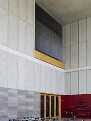 MDBK Leipzig (weyerdk) Tags: wood building glass architecture stairs germany concrete deutschland design oak construction balcony skylight carving leipzig sachsen limestone block void railing mass allemagne solid balustrade museumderbildendenknste sachsenplatz