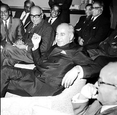 Z A Bhutto at a reception - prominent are J A Rahim and Mian Mahmud Ali Kasuri (Doc Kazi) Tags: pakistan heritage history prime president ali zab minister bhutto zulfikar