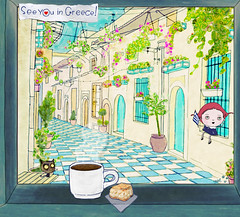 see you in greece (crosti) Tags: street travel summer urban window illustration fairytale breakfast cat advertising relax greek sketch view drawing hometown hellas greece grecia illustrator gr balkans goodmorning griechenland citycenter campaign crisis oldcity grece urbanlandscape cheesepie europeancity ellada greekcoffee ioannina giannena epirus beautifulcity  ipiros beautifulcountry  europeeuropa crosti yannena      checkeredtilefloor      welcometreat stoaliampei  christinatsevis  liapmeigallery greece2012 upgreektourism promotionofgreektourism  ideaforsummervacations
