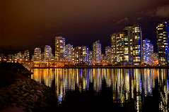 Yaletown Appartments (どこでもいっしょ) Tags: city light canada building colors skyline vancouver reflections bc nightshot general sony yaletown falsecreek za hdr olympicvillage appartments carlzeiss primelens emount sel24f18z sonynex5n thevillageonfalescreek carlzeiss24mmf18lens sonnart1824