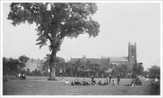 Lenton Trinity Church and the Recreation Ground -  1911  [ From a photographic process postcard ]
