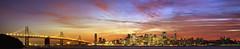 San Francisco, CA, USA (Leighton Wallis) Tags: sanfrancisco california ca sunset panorama usa clouds buildings lights bay cityscape treasureisland nightscape skyscrapers dusk pano unitedstatesofamerica coittower baybridge transamericapyramid