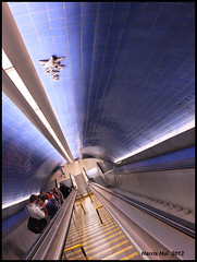 The Best Way Is Subway - Parque Metro Station Lisbon X0859e (Harris Hui (in search of light)) Tags: travel parque vacation canada portugal vancouver underground subway europe fuji bc metro lisboa lisbon tube richmond fujifilm escalators pointshoot thetube x10 myway travelphotography digitalcompact justthewayyouare parquestation harrishui vancouverdslrshooter fujix10 fujixseriescamera thebestwayissubway goodwaytomovearoundlisbon traveltipsforlisbon visualjourneythroughlisbon