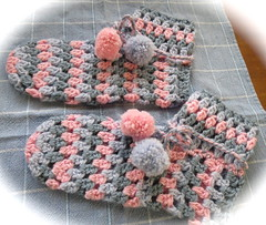 Crochet Slippers (Hesterb) Tags: crochet slippers