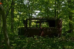 Still There (oliva732000) Tags: auto wood old summer ford car forest model junk vermont body antique steel rusty dump sharon hike upper trail valley frame trust land bil brook broad remains beech vt royalton rikerts a uvlt