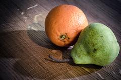 Fruit, Wood, Couple of Speedlights (InTheMist) Tags: nikon 1755 d7000