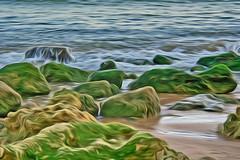 Praia dos Olhos de Água/Algarve (Zéza Lemos) Tags: praia portugal water água canon mar barcos natureza natur nuvens algarve capture ondas limos rochas mygearandme