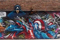 captain america by fel3000ft (ExcuseMySarcasm) Tags: streetart graffiti unitedstates michigan detroit captainamerica fel standrewshall guerrillaart excusemysarcasm fel300ft