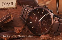 Chocolate Watch (Fahad Al-Robah) Tags: orange brown fossil propaganda chocolate watch brand      universality