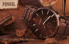 Chocolate Watch (Fahad Al-Robah) Tags: orange brown fossil propaganda chocolate watch brand      universality