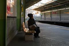 Yurigaoka, Platform-1 (madamasu) Tags: woman japan waiting platform trainstation yurigaoka leicaxvario