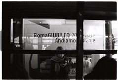From the bus window (Tom Tao) Tags: bw italy rome 35mm europe hp5 ilford