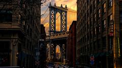 Brooklyn (Miradortigre) Tags: usa newyork manhattan bridge puente brooklyn nyc ciudad city cite cita sunset atardecer efecto empire state nuevayork
