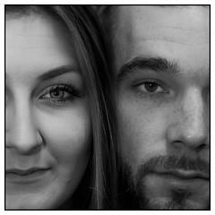 Fragment (Les_Pas_Presses) Tags: portrait pose studio couple photographie femme humour explore amour beaut johanna gomtrie bonheur genre homme regard amoureux noirblanc abstrait modle mystre tamron90 corentin matriel sensualit 5sens lespaspresss nikond750