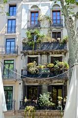 Barcelona,Las Ramblas, balconies with plants, (David McSpadden) Tags: barcelona lasramblas balconieswithplants