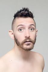 (Damien Cox) Tags: uk portrait selfportrait man male me face self ego myself beard eyes nikon masculine ears moi shoulders autorretrato scruff stubble i damiencox damiencoxcouk