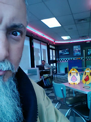 Selfie.. Photobombed by two ironic chickens.. (chazart7777) Tags: fastfood burgerking irony ironic selfie photobomb chickenbombed