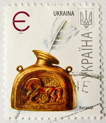 great stamp Ukraine YKPAїHA 66c writing (old ink pot of copper; altes Tintenfass aus Kupfer) Briefmarke Ukraine timbre Ucrania sello Ucrânia selo Ucraina francobollo 乌克兰 邮票 znaczek Ukraina Украи́на почто́вая ма́рка Ukrayna pulu 우크라이나 우표 Postabélyeg Ukrajn (stampolina, thx ! :)) Tags: old writing vintage gold alt or feather ukraine pot copper timbre 金 postzegel cobre rame ouro oro schreiben selo ukraina inkpot ucrania sello ukrajina cuivre feder україна pulu ucraina briefmarke 邮票 francobollo kupfer 乌克兰 铜 ukrajna 切手 złoto 우표 frimærke ucrânia znaczek oekraïne ウクライナ ukrayna медь украіна بريد марка طابع 우크라이나 miedź أوكرانيا украи́на ма́рка poštanskamarka postabélyeg почто́вая паштоваямарка зо́лото