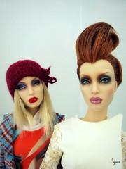 Sybarite Solitaire et Cameo (Sylvano Bradshaw) Tags: blue fashion star doll duke cameo fashiondoll couture deva solitaire sybarite superdoll superfrock