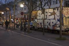 . (Le Cercle Rouge) Tags: paris france silhouette night shadows belleville human solo painters graffitis 75019