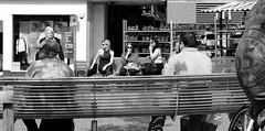 Three women smoking together (Micky Ayres) Tags: women candid smoking fujifilm loughborough xt10