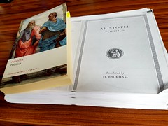 Aristoteles, Politika Oxford çevirisi ve Loeb edisyonunun fotokopisi (C. Cengiz Çevik) Tags: philosophy politika politica aristoteles felsefe