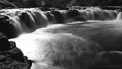 Spring pleasures in Iceland (lunaryuna) Tags: light bw panorama monochrome season landscape blackwhite waterfall iceland spring seasonal lunaryuna wonders northiceland