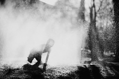 fun fun... (privizzinis passion photography) Tags: light summer people blackandwhite mist water monochrome sunshine silhouette kids fun outdoors play outdoor surreal sprinkler freelensing