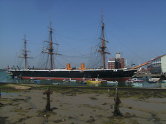 HMS Warrior 1860 Naval Dockyard Portsmouth (Richard.Crockett 64) Tags: ship hampshire portsmouth warrior battleship 2010 hms 1860 royalnavy historicdockyard hermajestysship