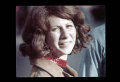 ss23-38 (ndpa / s. lundeen, archivist) Tags: portrait people woman color film face boston massachusetts nick slide slideshow brunette mass 1970s youngwoman bostonians bostonian dewolf early1970s nickdewolf photographbynickdewolf slideshow23