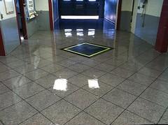 Epoxy Tile - Showroom (Decorative Concrete Kingdom) Tags: tile logo flake showroom epoxy chip