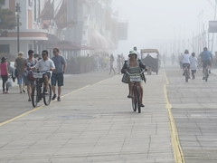 Atlantic City, NJ (lotos_leo) Tags: street people bike fog newjersey outdoor nj shore atlanticcity boardwalk strips