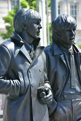 Paul & George (18mm & Other Stuff) Tags: england statue liverpool nikon thebeatles d7200