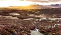 Ryvoan Bothy (Daniel Zwierzchowski) Tags: uk sky sun sunlight lake snow mountains sunrise canon landscape eos scotland outdoor path 1022mm aviemore bothy 550d ryvoan eos550d