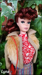 #4 Ponytail Barbie Redhead (Lyna J. Grey) Tags: barbie ponytail redhead vintage mattel supervintage ooak custom 4 collection art artist lyna j grey italian ooaks