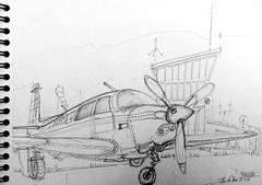 Ile d'Yeu, l'aerodrome (Croctoo) Tags: yeu avion aerodrome crayon croquis croctoofr croctoo