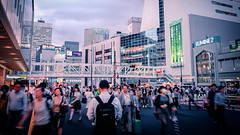 175/366 : Streaming Throng (hidesax) Tags: street leica japan tokyo shinjuku cityscape pavement x pedestrianbridge passersby vario 365project 366project 175366 hidesax 366project2016 streamingthrong