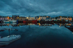 Stornoway Harbour at night........ (Dafydd Penguin) Tags: sttoroway isle lewis island western isles outer hebrides scotland west coast coastal town harbor port dock sea vessel boat nikon d600 nikkor 20mm af f28d